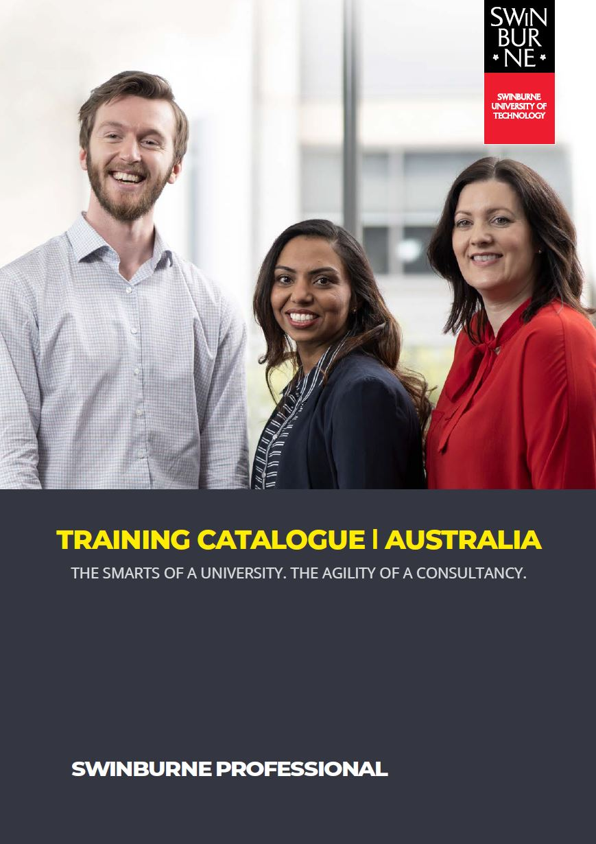 Swinburne Professional Training Catalogue Australia July 2020