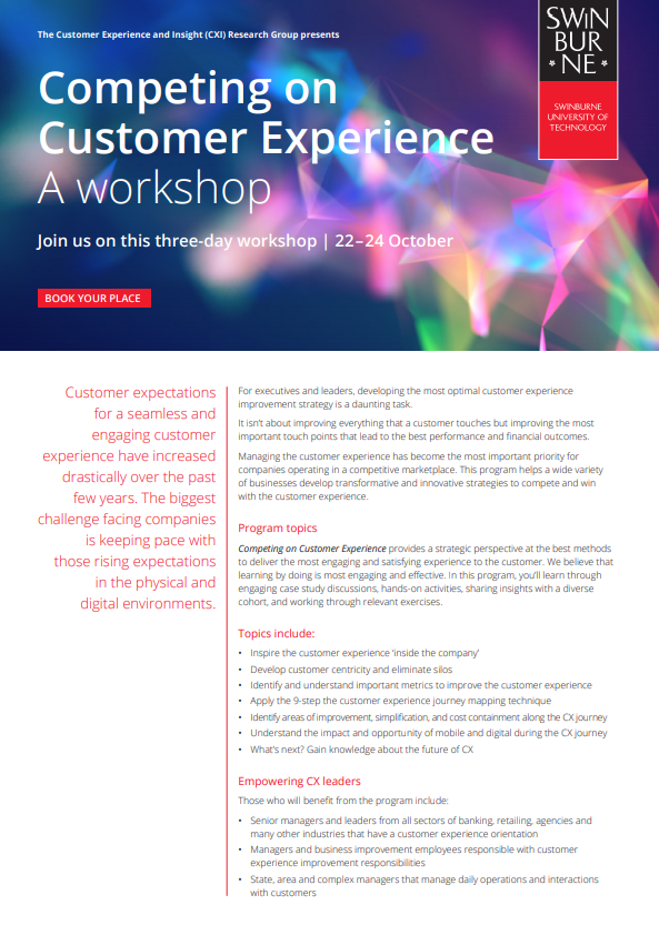 Competing on Customer Experience