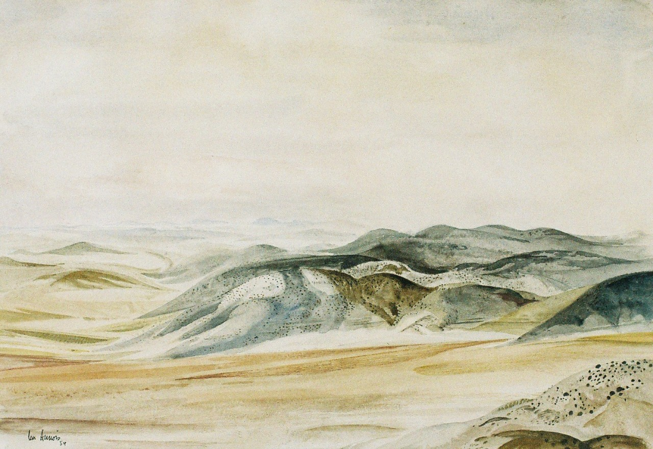 Panorama painting of hills