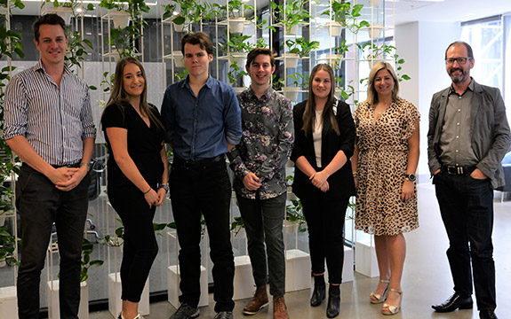 Four Swinburne advertising students took part in the pilot internship program where they worked on accounts such as Specsavers, Officeworks and ME Bank.