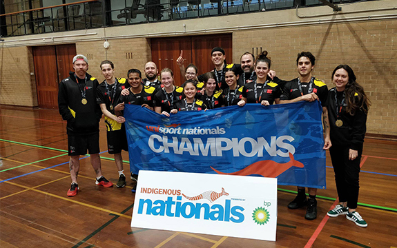 The Swinburne team beat hosts the University of Western Australia 36-21 in the basketball grand final