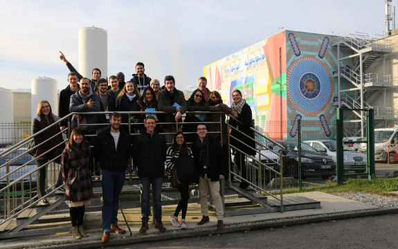 Four global student teams and supporting academics at CERN