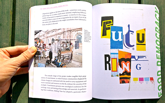 spread from Food Democracy, Critical Lessons in Food, Communication, Design and Art by Oliver Vodeb