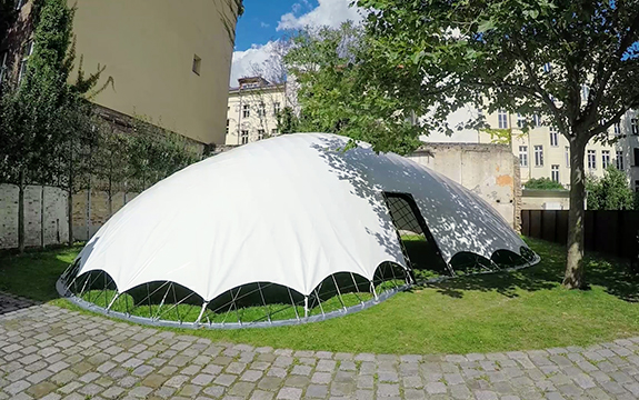 SheltAir with outer cover and gridshell