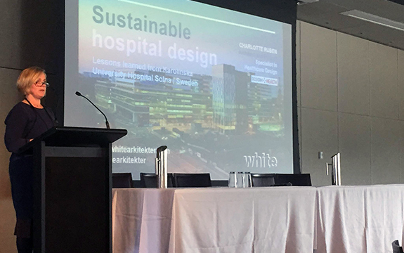 Charlotte Rubein speaking at Design for Health event