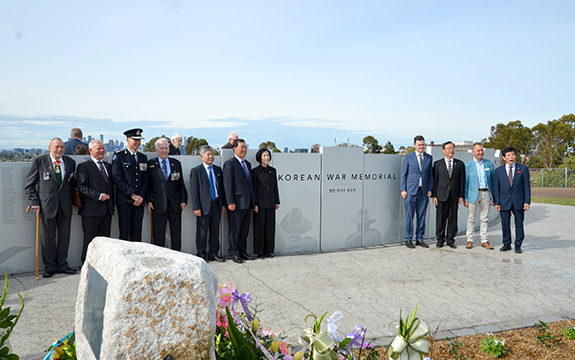 Guests and dignitaries at the memorial opening