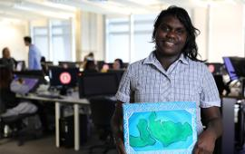 Students were encouraged to create their own artworks inspired by their Indigenous heritage during the sessions.