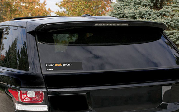 Re-act campaign bumper sticker