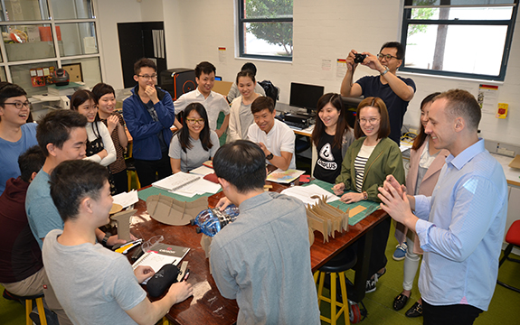 THEi students and academics at Swinburne School of Design