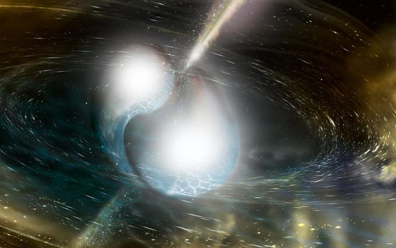 An illustration of two merging neutron stars from the US National Science Foundation | Image: AFP