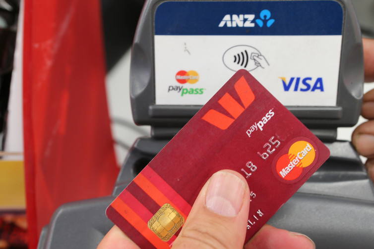 A Westpac card using Paypass