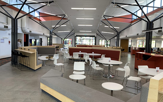 The new Croydon campus interior after works