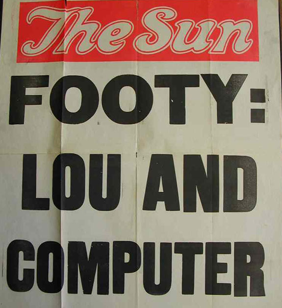 The Sun newspaper advertising page.