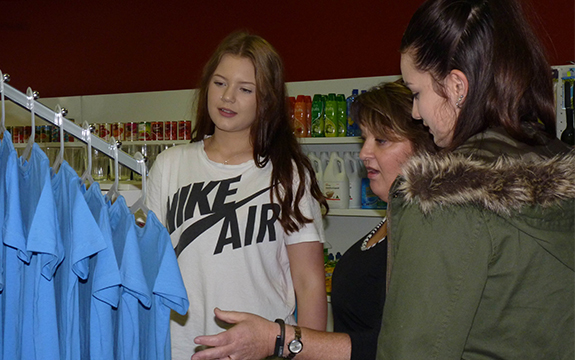 Retail Services students learn real-world skills in a classroom setting.