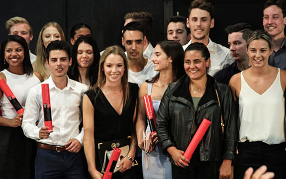 The cohort features 41 graduates, many of whom have gone on to work for the club and its subsidiaries. | Image: Richmond Football Club