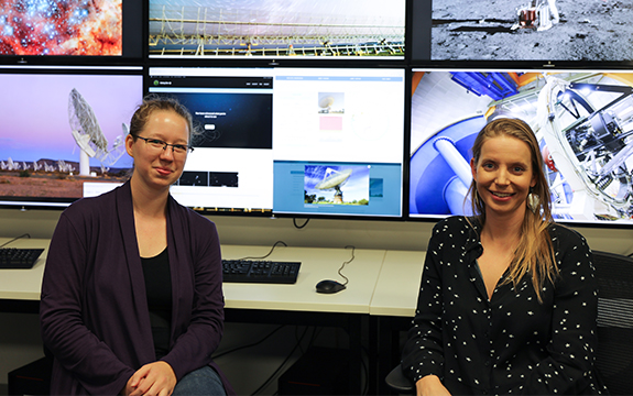 Renee Spiewak and Rebecca Allen from the Centre for Astrophysics and Supercomputing