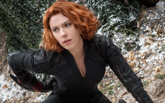 Black Widow, in Marvel's Avengers: Age of Ultron, released this week. Image credit: Jay Maidment ©Marvel 2015.