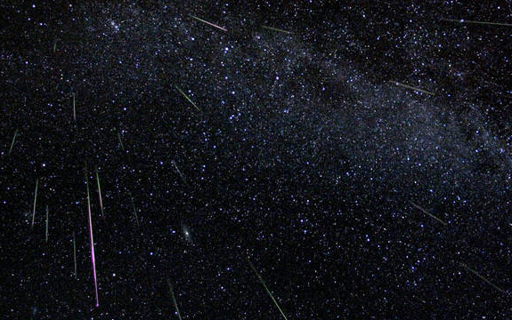 The Geminids are one of two meteor showers that occur in December. Image credit: NASA.