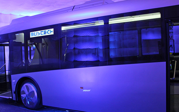 Electric bus that Swinburne researchers helped to design, engineer and manufacture.