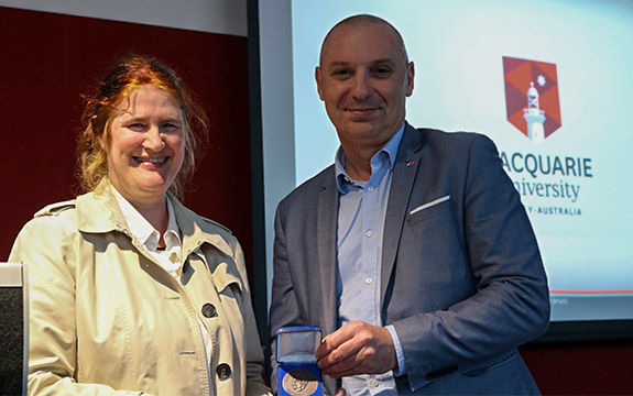 Professor Reid was presented with the Moyal Medal at Sydney's Macquarie University where she delivered a public lecture.