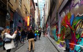 Melbourne's Hosier Lane: some see it as art, others think it's vandalism