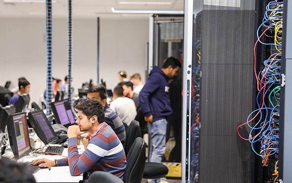 students working in Cisco Networking Academy