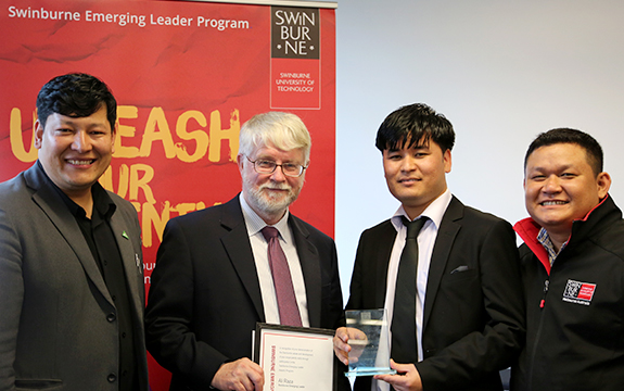 On completion, students will receive recognition from Swinburne in the form of a certificate and credit towards the Swinburne Emerging Leaders Program.