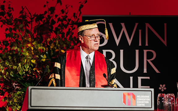 Professor John Pollaers OAM brings significant experience from across the public and private sectors to Swinburne.