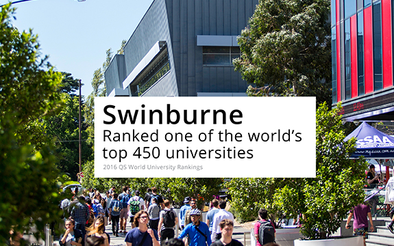 Swinburne has risen almost 60 places in the past year.
