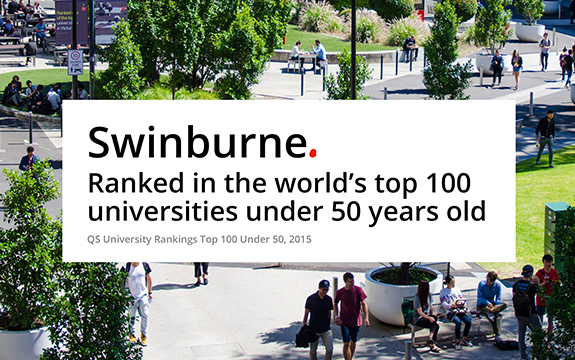 Swinburne is one of 15 Australian universities to be included in the QS rankings.