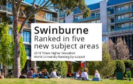 Swinburne is internationally recognised as a world-class university with a focus on conducting research with impact.