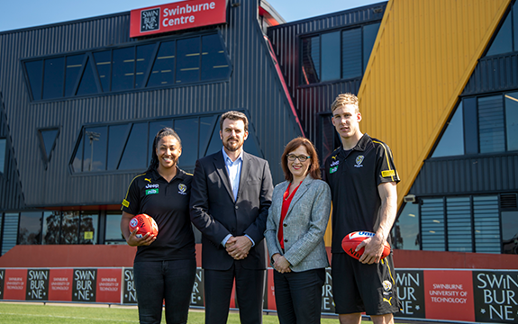 Richmond football club and Swinburne University at Punt road.