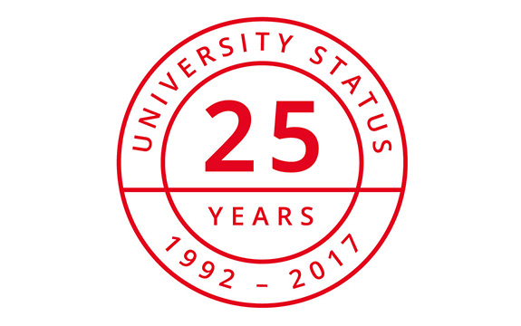 Swinburne 25 red logo with white background