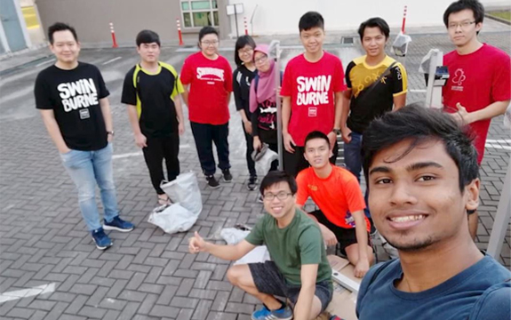 Swinburne students in the Institute of Electrical and Electronic Engineers Sarawak subsection