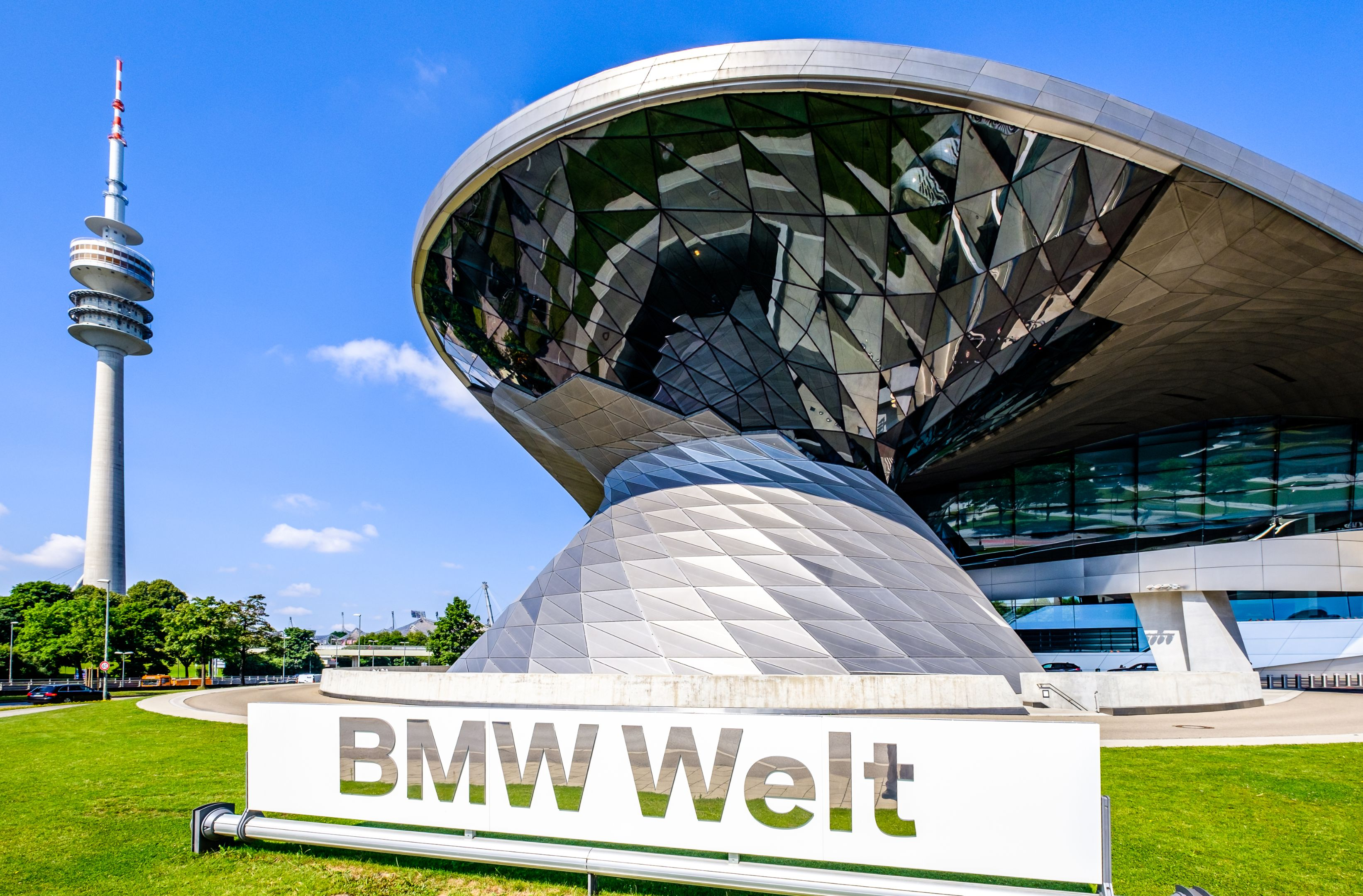 BMW Welt facade in Munich Germany