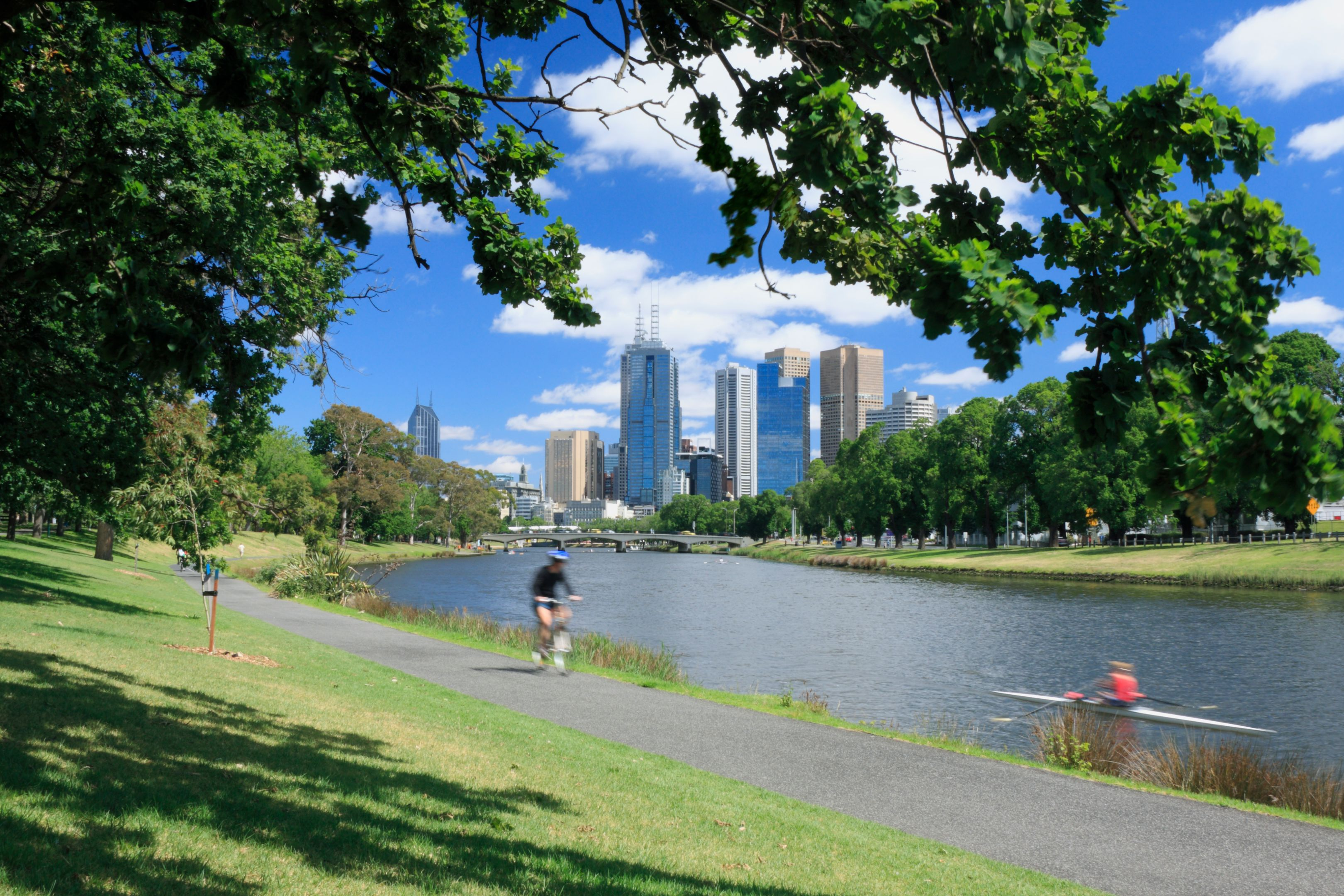 Melbourne by the Yarra River
