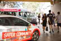 Safer Community branded car and night bus service at Hawthorn campus