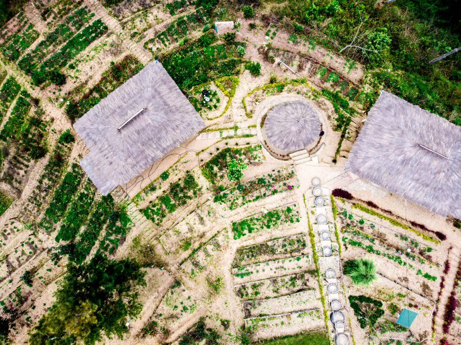 Aerial shot of a project site in Timor Leste