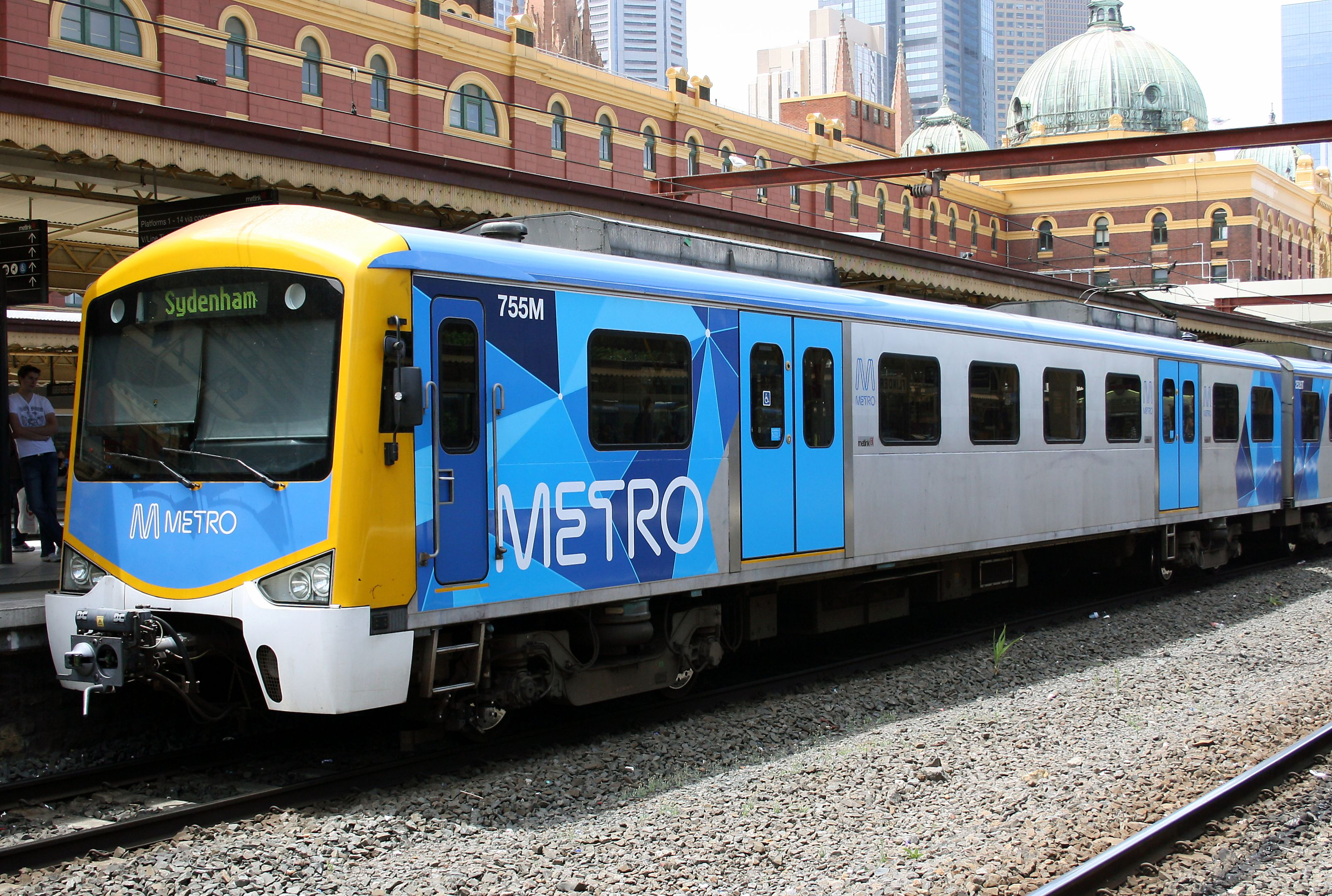 Siemens train in Metro Trains Melbourne Australia