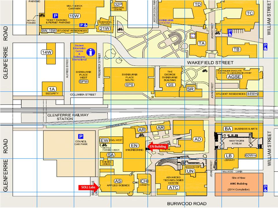 Swinburne Hawthorn Map Location