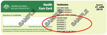 Health Care Card Example