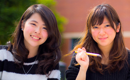 Image of three Japanese students at the Japanese festival on Hawthorn campus