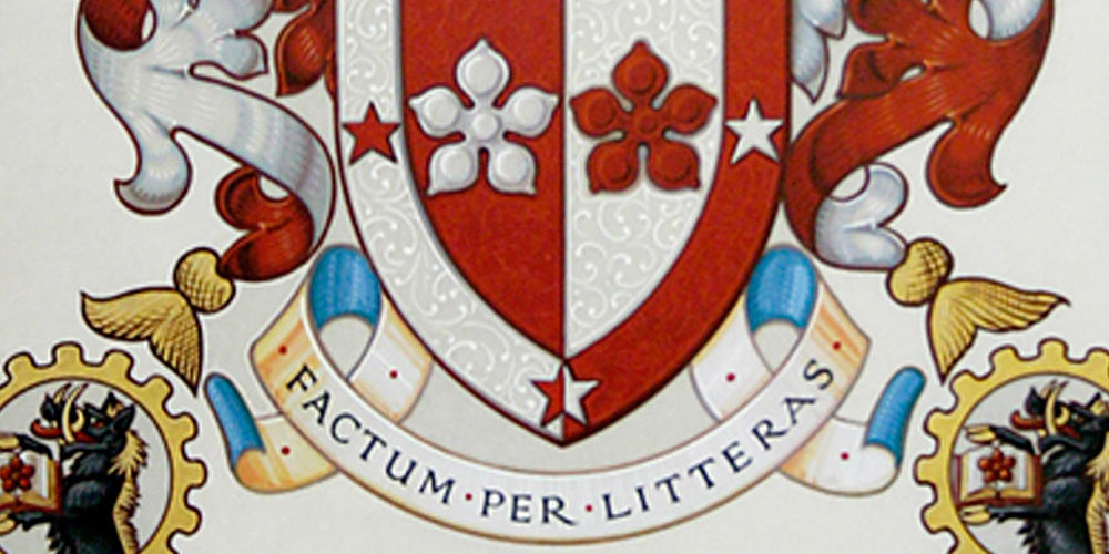 This image is a section of the Swinburne University's Coat of arms.