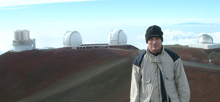 Trevor Barry, Swinburne Astronomy alumni at the W. M Keck Observatory, Hawaii