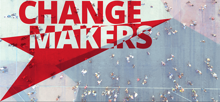 Cover page of the Changemakers brochure, to be used as Case studies menu image
