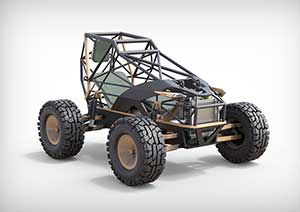 Naja Electric Tactical Vehicle designed by Louis Mills