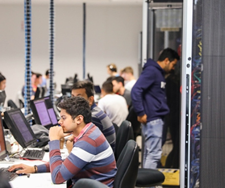 Students working in Swinburne's million dollar CISCO Networking Academy