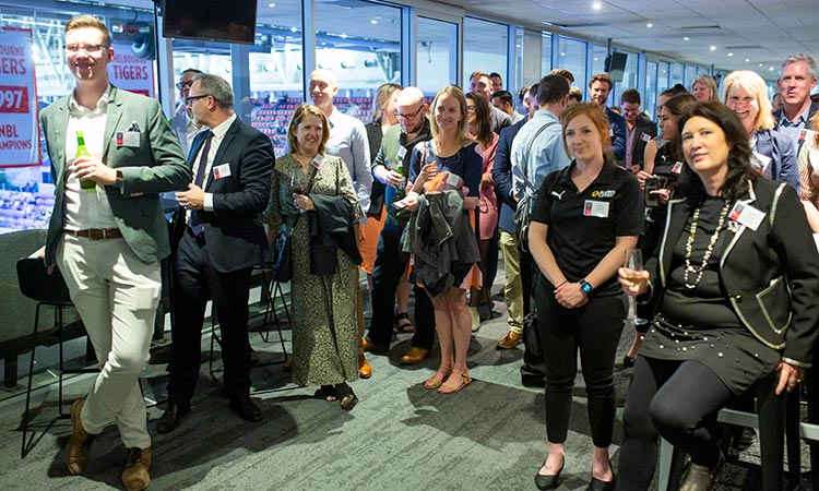 Event: Sport Innovation Research Group Launch - Attendees listen to introductory speeches