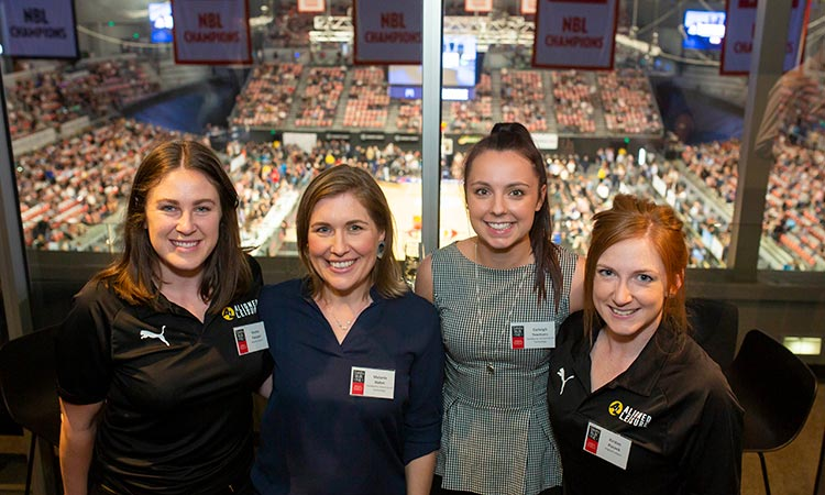 Event: Sport Innovation Research Group Launch - Girls watching basketball