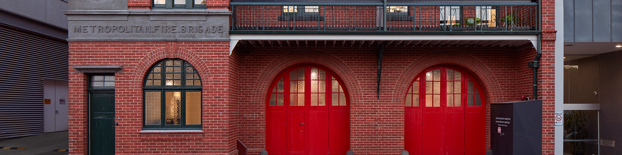 The Fire Station at Swinburne houses the Innovation Precinct and Design Factory Melbourne. The building was previously the Hawthorn Fire Station for 87 years, decommissioned in 1997.